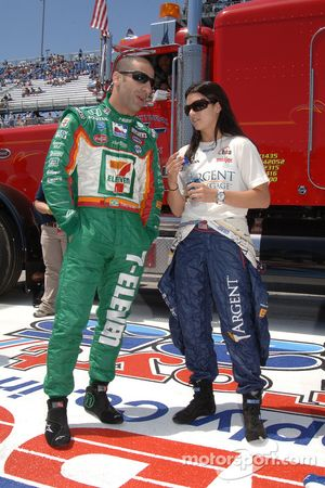 Tony Kanaan and Danica Patrick