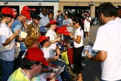 Autograph session: Danica Patrick draws a crowd