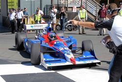 Marco Andretti enters Victory lane