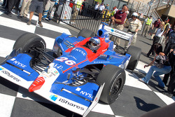 Is Marco Andretti about to run over sister Marissa's sunglasses?