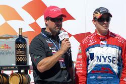 Podium: Michael and Marco Andretti
