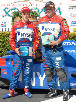 Marco Andretti begins claiming the winner's spoils