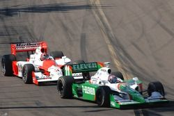 Tony Kanaan leads Helio Castroneves
