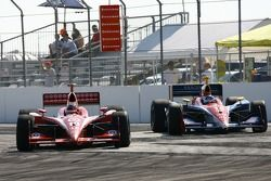 Dan Wheldon and Danica Patrick