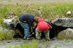 Kids enjoyed the large amount of rain