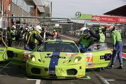 Pitstop #57 Krohn Racing Ferrari F430: Tracy Krohn, Nic Jonsson, Michele Rugolo