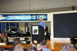 Indiana Lt. Gov. Becky Skillman and the 1978 Chevrolet Corvette Pace Car