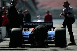 Super Aguri Panther Racing pit area