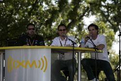 Michael Andretti et Bryan Herta au stade XM Satellite Radio