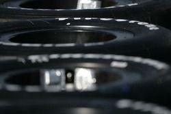 Firestone Firehawk tires in the pit area