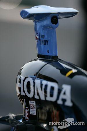 Detail of the Rahal Letterman Racing car of Danica Patrick