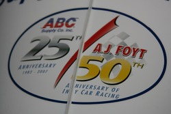Logo for A.J. Foyt's 50 years in racing