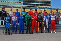 IRL drivers pose for a photo