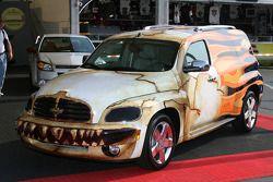 An interesting car on display