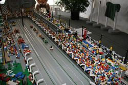Lego model of Indianapolis Speedway