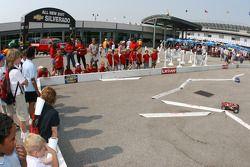 Fans race remote control cars