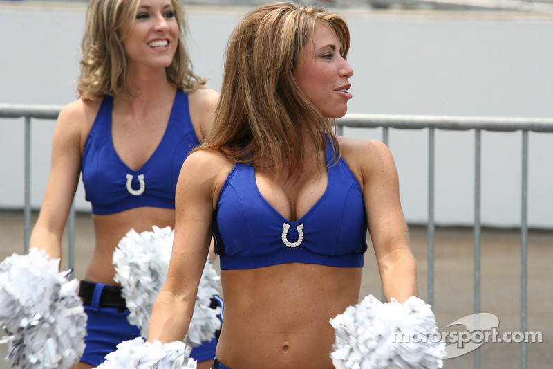 Indianapolis Colts cheerleaders at Indy 500