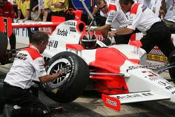 Helio Castroneves during the Checkers/Rally's Pitstop Competition