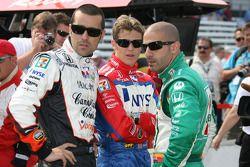 Dario Franchitti, Marco Andretti and Tony Kanaan