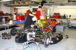 SAMAX Motorsport crew members at work