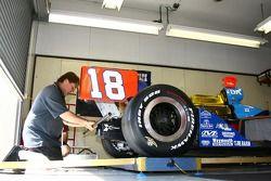 PDM Racing crew member at work