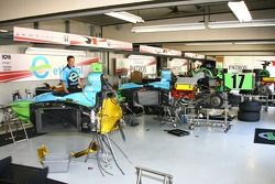 Rahal Letterman Racing garage area