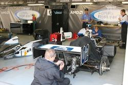 Vision Racing crew members at work