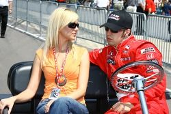 Sam Hornish Jr. with this wife
