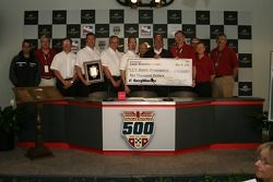 Delphi Motorsports receives the Schwitzer Award, and a $10,000 check