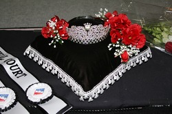 The beautiful prizes for winning 500 Festival Princess