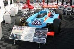 The 1982 winning car of Gordon Johncock on display