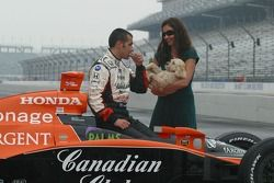 Dario Franchitti and wife Ashley Judd along with their dog share a private moment