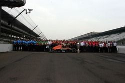The combined teams of Andretti-Green Racing