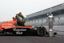 Dario Franchitti and the Borg Warner Trophy