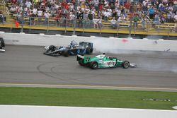 Danica Patrick and Ed Carpenter involved in a crash
