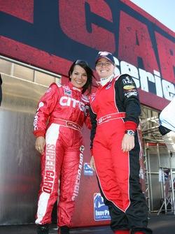 Milka Duno and Sarah Fisher