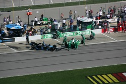 Danica Patrick and Tony Kanaan in the pits
