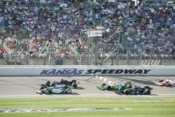 Ed Carpenter, Alex Barron, Tony Kanaan and Danica Patrick