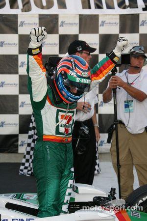 Winners circle: Tony Kanaan celebrates