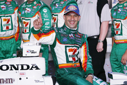 Winners circle: Tony Kanaan celebrates
