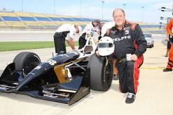 Former Cincinnati Reds pitcher Tom Browning getting ready for his two-seater ride
