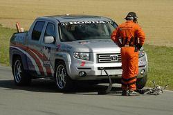 Camion de sécurité a le démarreur pour Ryan Hunter-Reay