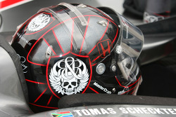 The helmet of Tomas Scheckter