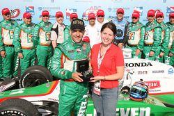 Podium: race winner Tony Kanaan