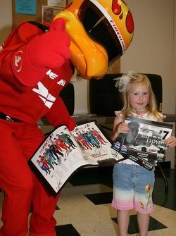 Firestone Corporate Employee Function: the Firestone Firehawk with a young fan