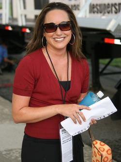 Angie Brober after performing 'God Bless America'