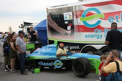 Fans check out the Ethanol show car