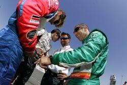 Marco Andretti, Dario Franchitti, Tony Kanaan, and Michael Andretti