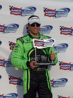 Scott Sharp receives the AAMCO pole trophy