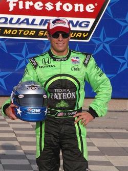 Scott Sharp receives the Texas Motor Speedway Pole Award